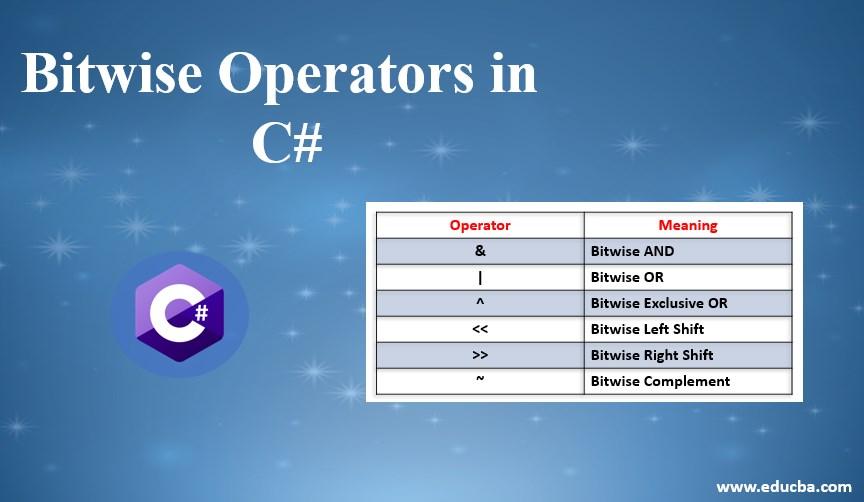 bitwise operator in c