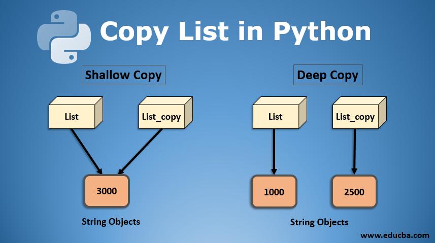 copy list in python