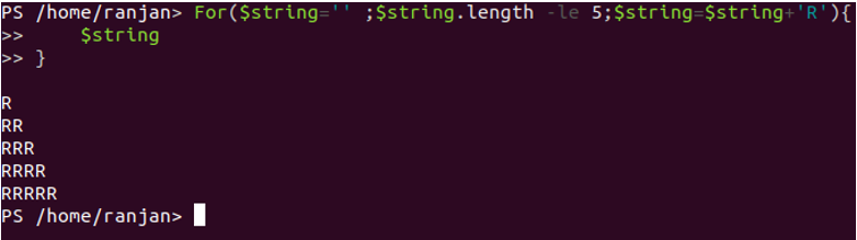 Length of any String