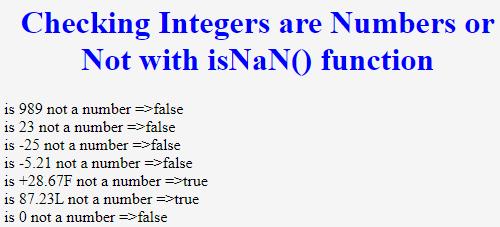 isNaN() JavaScript - 2