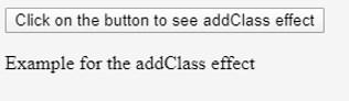 jQuery addClass() -1