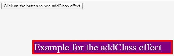 jQuery addClass() - 2
