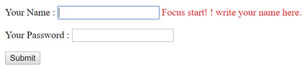 jQuery focus() output 4