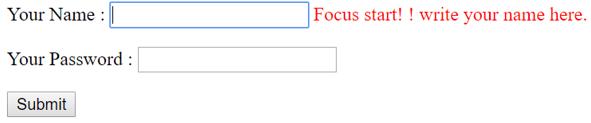 jQuery focus() output 6