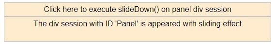 jQuery slideDown() 1-10