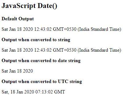 JavaScript date()