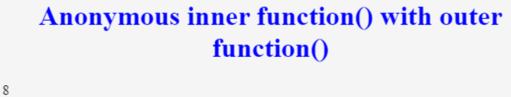 javascirpt nested function
