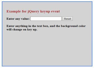 jquery keyup () 1