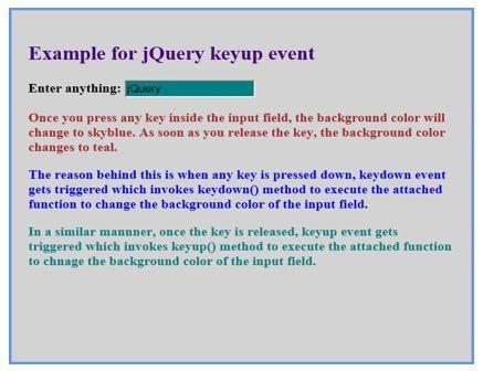 jquery keyup () 6JPG