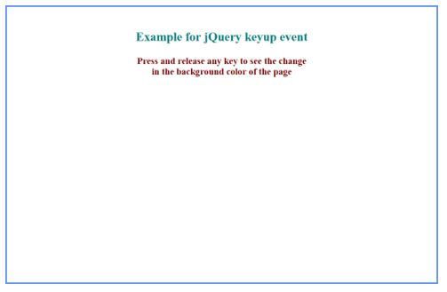 effect of keyup