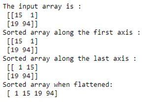 numpy.sort 1-1