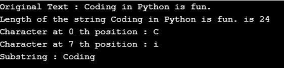 python substring