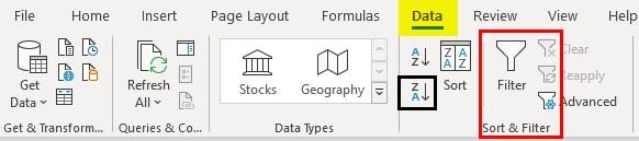 Excel Reverse Order 1-4