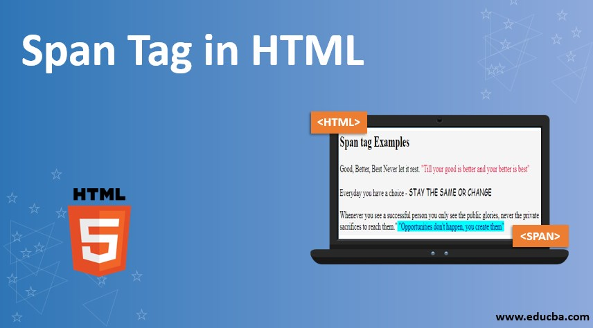 Span Tag in HTML