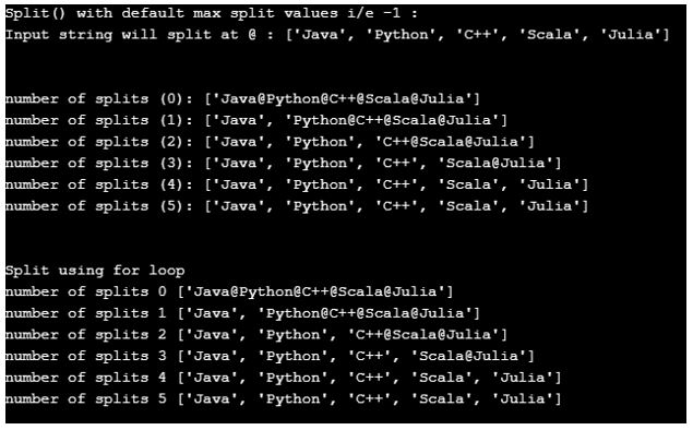split function in python 2