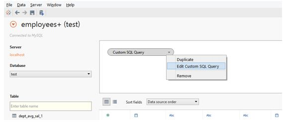 sql query is user created