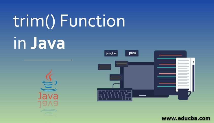 trim() Function in Java