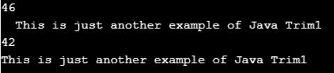 trim() function