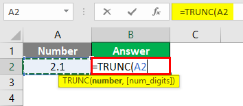 Trunc in Excel 1-3