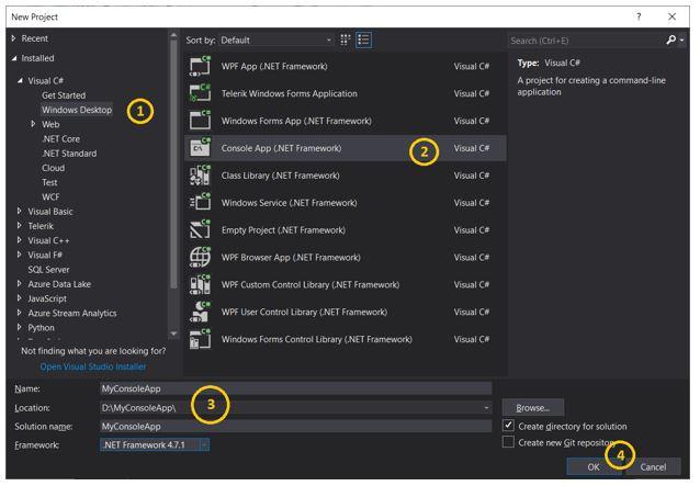 dot NET console application