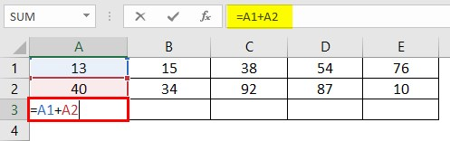 Write Formula in Excel 2-2