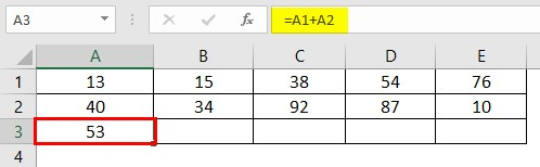 Write Formula in Excel 2-3