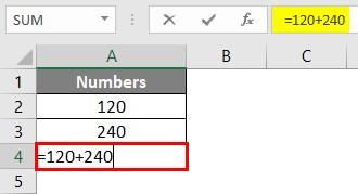 Write Formula in Excel 1-2