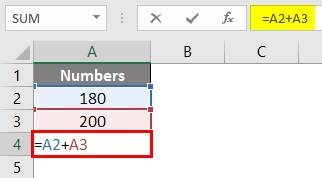 Write Formula in Excel 1-5