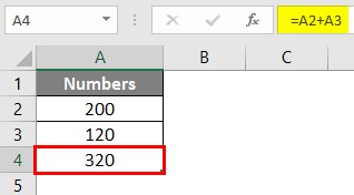 Write Formula in Excel 1-7