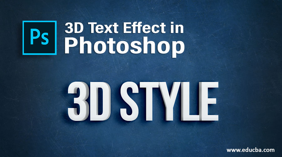 3D Text Effect in Photoshop