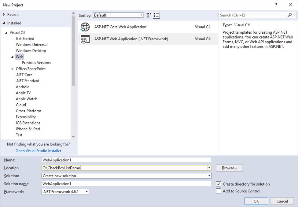 ASP.NET CheckBox List-1.1