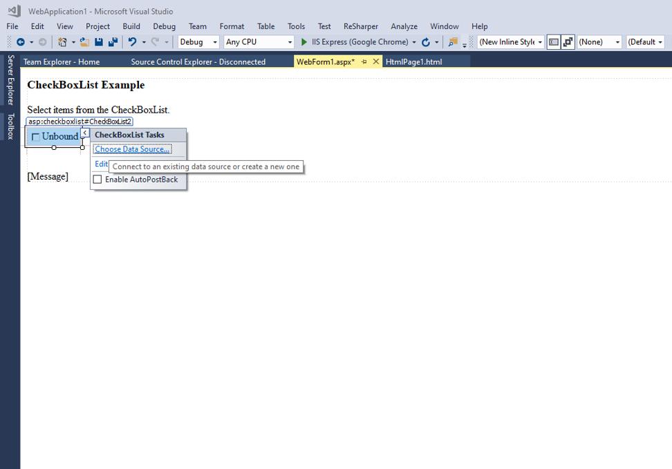 ASP.NET CheckBox List-1.3