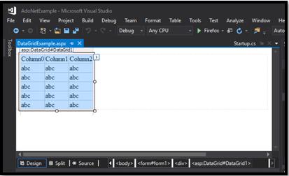 ASP.NET Datagrid step 3