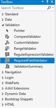 ASP.NET RequiredFieldValidator - 1