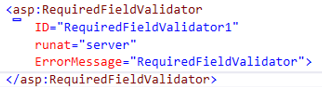 ASP.NET RequiredFieldValidator - 2
