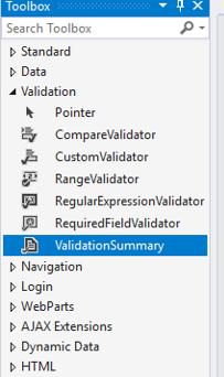 ASP.NET ValidationSummary - 1