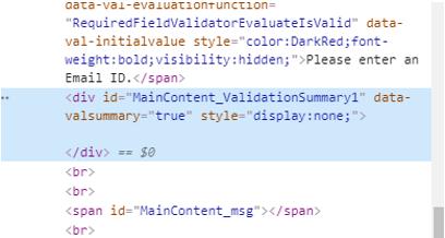 ASP.NET ValidationSummary - 2