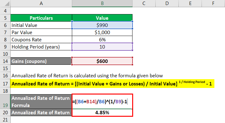 Annualized Rate of Return Formula -7