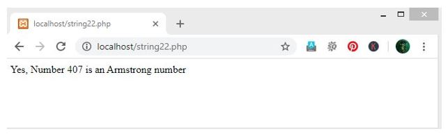 Armstrong Number in PHP 3