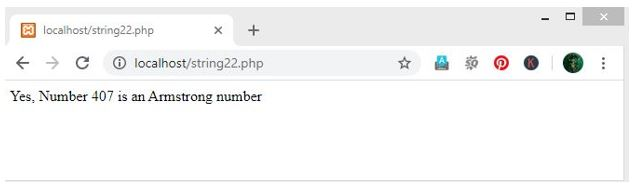 Armstrong Number in PHP 5