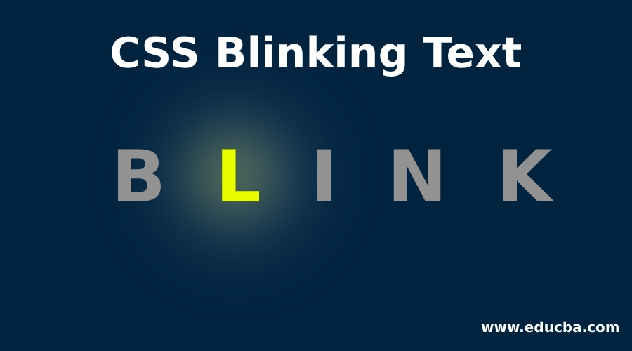 CSS Blinking Text