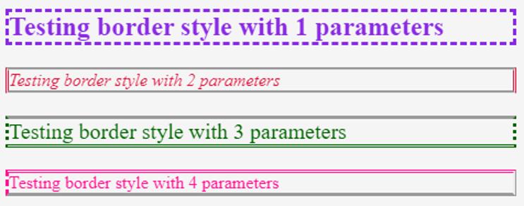 CSS Border Style-1.2