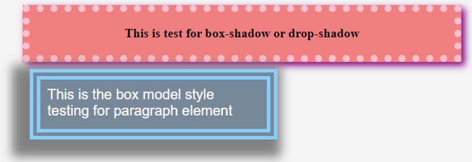 CSS Drop Shadow 1