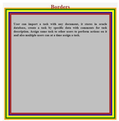 5 borders