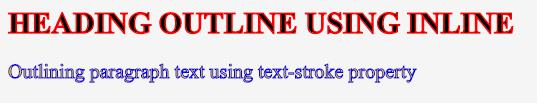CSS Text Outline 1-3