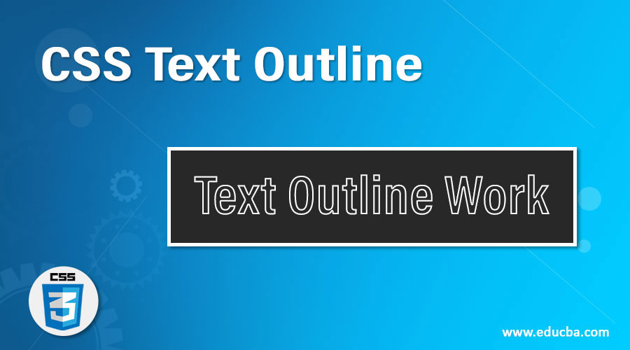 CSS Text Outline