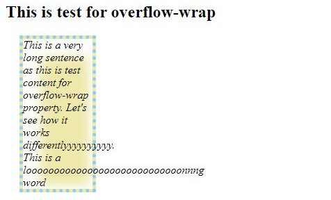 CSS Word Wrap 1-1