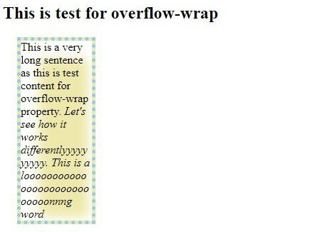CSS Word Wrap 1-2