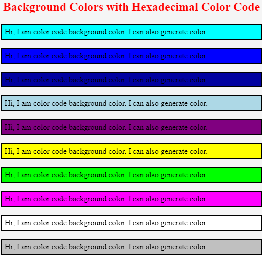 CSS color code - 1