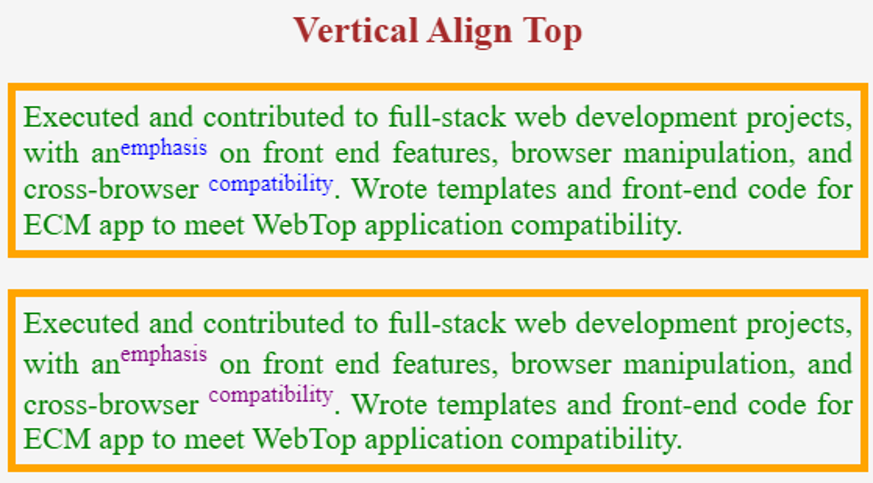 CSS vertical align -example 1